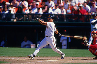 SAN FRANCISCO, CA - Marvin Benard of the San Francisco Giants bats during a game at Candlestick Park in San Francisco, California in 1997. Photo by Brad Mangin