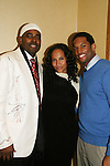 Lamman Rucker (ATWT & AMC) and Guiding Light's Yvonna Wright and Lawrence Saint-Victor at the 2nd Annual AHEAD - Saving Lives Today - Sustaning Communities Tommorow - fundraising dinner on December 4, 2008 at the River Room, New York City, New York. MIssion of AHEAD is to work with underserved communities in developing countries to improve the quality of life by implrmenting programs that lead to seof-sufficiency and self-reliance. (Photo by Sue Coflin/Max Photos)