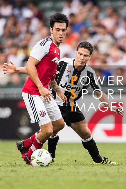 Juventus' player Anderson Hernanes de Carvalho Viana Lima (r) in action during AET International Challenge Cup of the South China vs Juventus match on 30 July 2016 at Hong Kong Stadium, in Hong Kong, China.  Photo by Marcio Machado / Power Sport Images