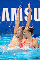 JONES Christina; MAY Bill USA United States of America<br /> Kazan Arena Synchro Sincro Mixed Duet Technical Final<br /> Day03 26/07/2015<br /> XVI FINA World Championships Aquatics Swimming<br /> Kazan Tatarstan RUS July 24 - Aug. 9 2015 <br /> Photo G.Scala/Deepbluemedia/Insidefoto