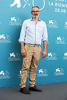 "VENICE, ITALY - SEPTEMBER 07: Giuseppe Capotondi attends ""The Burnt Orange Heresy"" photocall during the 76th Venice Film Festival at Sala Grande on September 07, 2019 in Venice, Italy. (Photo by Mark Cape/Insidefoto)<br /> Venezia 07/09/2019"