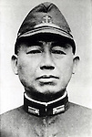 Takijiro Onishi (2 June 1891 - 16 August 1945) was an admiral in the Imperial Japanese Navy during World War II, who came to be known as the father of the kamikaze. At the end of the War Onishi committed ritual suicide (seppuku) in his quarters following the surrender of Japan. In his suicide note he apologized to the approximately 4,000 pilots whom he had sent to their deaths, and urged all young civilians who had survived the war to work towards rebuilding Japan and peace among nations. (Photo by Kingendai Photo Library/AFLO)