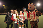 #22 Sarah Scholl poses for a photo with her parents and Testudo before Maryland's 10-0 win over VCU at the Field Hockey and Lacrosse Complex in College Park MD on October 30, 2008.  Christopher Blunck/UMTerps.com.