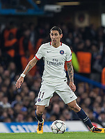 Angel Di Maria of Paris Saint-Germain in action during the UEFA Champions League Round of 16 2nd leg match between Chelsea and PSG at Stamford Bridge, London, England on 9 March 2016. Photo by Andy Rowland.