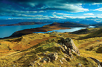 The Cuillin and Loch Leathan from The Storr, Isle of Skye, Inner Hebrides, Highland