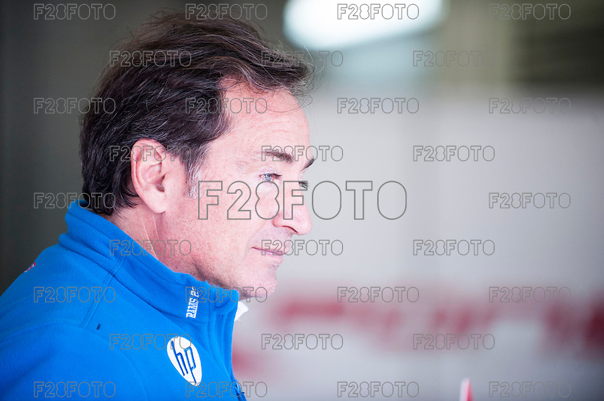 Sito Pons in his box at pre season winter test IRTA Moto3 & Moto2 at Ricardo Tormo circuit in Valencia (Spain), 11-12-13 February 2014