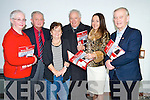 Bishop Bill Murphy pictured with Maureen Hanafin, Raymond Roche, Kathleen Browne, Marie O'Sullivan and Killarney Mayor Sean O'Grady at the launch of The Kerry Magazine in the Killarney Library on Saturday.