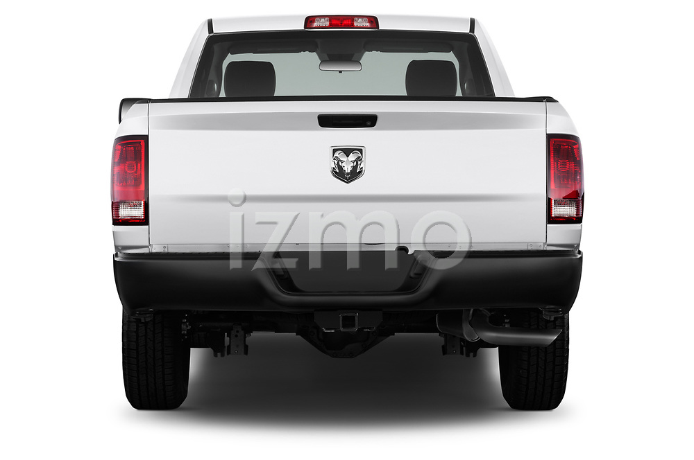Straight rear view of a 2017 Dodge Ram 1500 Tradesman Regular Cab