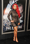 HOLLYWOOD, CA - MAY 26: WWE Diva Eva Marie arrives at the 'San Andreas' - Los Angeles Premiere at TCL Chinese Theatre IMAX on May 26, 2015 in Hollywood, California.