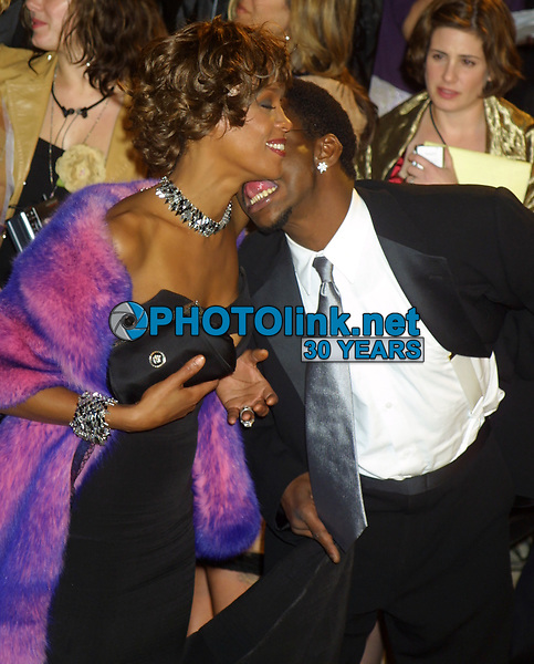 Bobby Brown, Whitney Houston, 2001, Photo By John Barrett/PHOTOlink