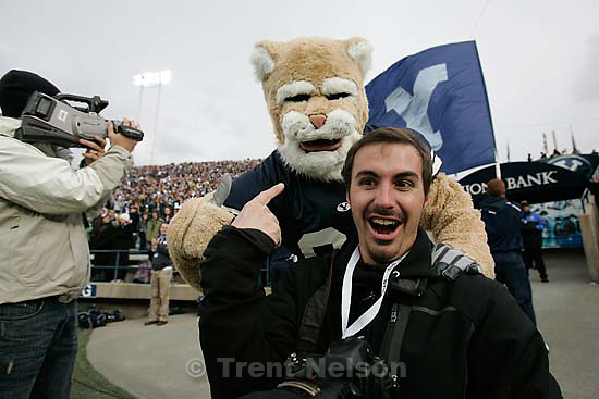 BYU vs. Air Force college football Saturday, November 21 2009. Cosmo and Patrick Smith