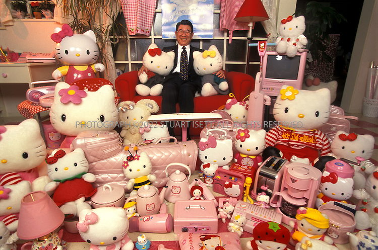 "2/26/2000--Tokyo, Japan..Tsuji Shintaro, 71, the man behind the Hello Kitty phenomenon. Orphaned at 13, Tsuji Shintaro was brought up by his grandparents in Kofu City in central Japan. He says his lonely childhood taught him the importance of having someone - or something - for ""heart-to-heart communication."" So at 71, the founder and president of merchandiser Sanrio continues to think up stuffed-toy characters like the bunny My Melody, the frog Keroppi, the cherubs Little Twin Stars and, of course, the mouthless feline Hello Kitty. All are determinedly cute and cuddly, presumably so they can bring comfort and joy to lonely kids and even grown-ups. There are apparently millions of these people. For the year ending March 1999, Sanrio is expected to gross a record-breaking $1 billion...All photographs ©2003 Stuart Isett.All rights reserved.This image may not be reproduced without expressed written permission from Stuart Isett."