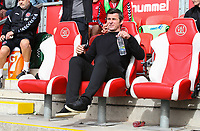 Fleetwood Town manager Joey Barton takes his seat for the match<br /> <br /> Photographer Alex Dodd/CameraSport<br /> <br /> The EFL Sky Bet League One - Fleetwood Town v Accrington Stanley - Saturday 15th September 2018  - Highbury Stadium - Fleetwood<br /> <br /> World Copyright &copy; 2018 CameraSport. All rights reserved. 43 Linden Ave. Countesthorpe. Leicester. England. LE8 5PG - Tel: +44 (0) 116 277 4147 - admin@camerasport.com - www.camerasport.com