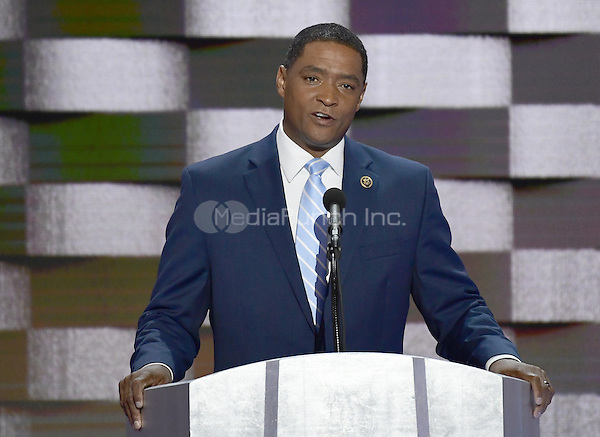 United States Representative Cedric Richmond (Democrat of Louisiana) makes remarks during the fourth session of the 2016 Democratic National Convention at the Wells Fargo Center in Philadelphia, Pennsylvania on Thursday, July 28, 2016.<br /> Credit: Ron Sachs / CNP/MediaPunch<br /> (RESTRICTION: NO New York or New Jersey Newspapers or newspapers within a 75 mile radius of New York City)