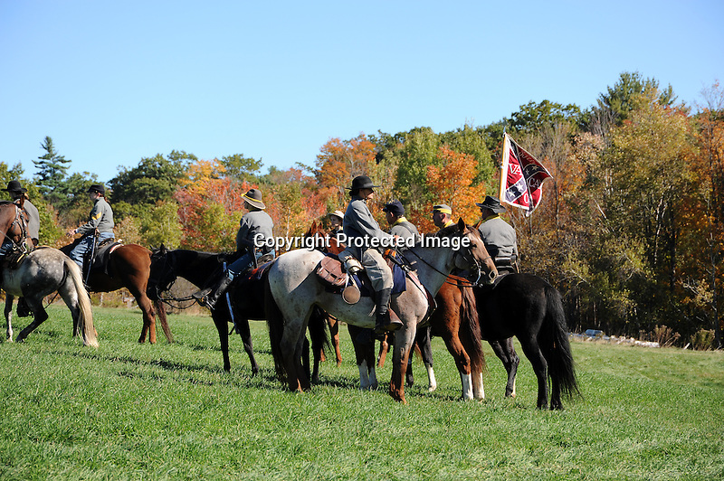 Civil War Reenactment Confederate Camp Cavalry Drill