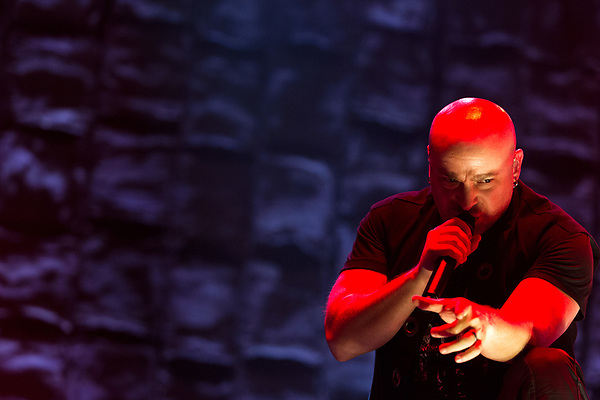 May 8, 2016. Concord, North Carolina. <br />  Disturbed singer David Draiman.<br />  The 2016 Carolina Rebellion was held over May 6-8 next to the Charlotte Motor Speedway and featured over 50 bands including headliners Lynyrd Skynyrd, The Scorpions, Five Finger Death Punch, Disturbed, and Rob Zombie.