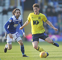 Blackburn Rovers Richard Smallwood  in action with Birmingham City's Jota<br /> <br /> Photographer Mick Walker/CameraSport<br /> <br /> The EFL Sky Bet Championship - Birmingham City v Blackburn Rovers - Saturday 23rd February 2019 - St Andrew's - Birmingham<br /> <br /> World Copyright © 2019 CameraSport. All rights reserved. 43 Linden Ave. Countesthorpe. Leicester. England. LE8 5PG - Tel: +44 (0) 116 277 4147 - admin@camerasport.com - www.camerasport.com