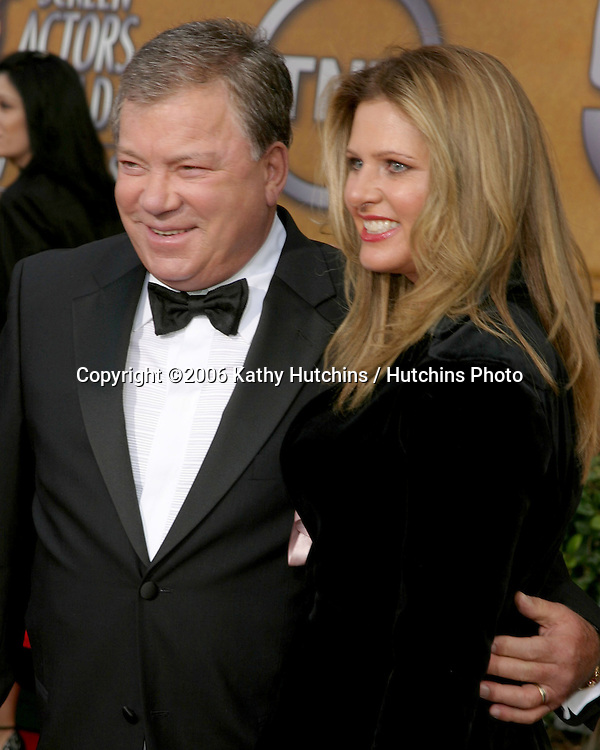 William Shatner & wife.12th Annual Screen Actors Guild  Awards.Shrine Auditorium.Los Angeles, CA.January 29, 2006.©2006 Kathy Hutchins / Hutchins Photo....