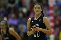 19.01.2019 Silver Ferns Karin Burger in action during the Silver Ferns v Australia netball test match at The Copper Box Arena. Mandatory Photo Credit ©Michael Bradley Photography/Christopher Lee