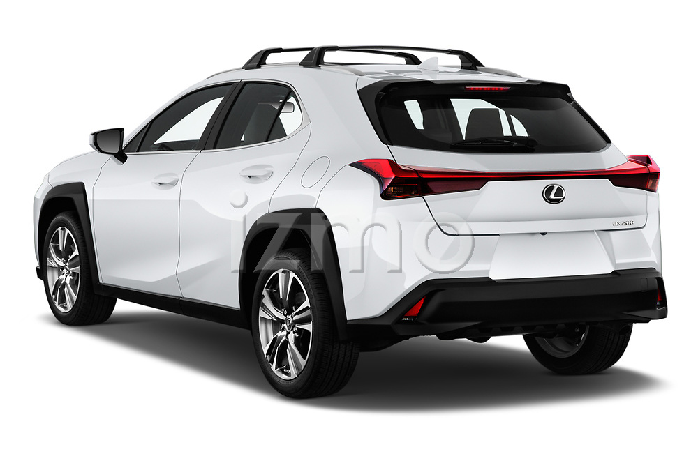 Car pictures of rear three quarter view of 2019 Lexus UX 200 5 Door SUV Angular Rear