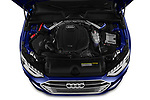 Car stock 2020 Audi A4 Advanced 4 Door Sedan engine high angle detail view