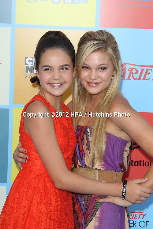 LOS ANGELES - SEP 15:  Bailee Madison, Olivia Holt arrives at the Variety's Power Of Youth Event at Paramount Studios on September 15, 2012 in Los Angeles, CA