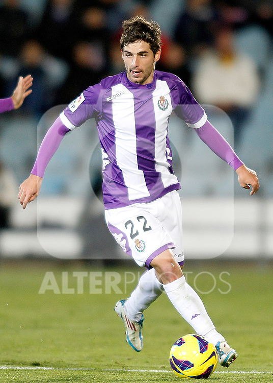 Real Valladolid's Victor Perez during La Liga match.November 18,2012. (ALTERPHOTOS/Acero)