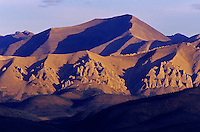 Tors or erosion pillars on Ogilvie Mountains from Ogilvie Summit<br /> Dempster Highway<br /> Yukon<br /> Canada