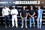 Kellan Lutz, Wesley Snipes, Jason Statham, Sylvester Stallone and Antonio Banderas present the film ´The Expendables 3' in Marbella, Spain. August, 5 of 2014. (ALTERPHOTOS/Carlos Dafonte)