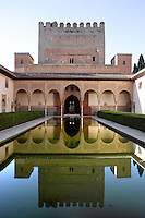 North Gallery; Courtyard of the Myrtles; XIV century under the reign of Yusuf I; Comares Palace; Nasrid Palaces; The Alhambra, Granada, Andalusia, Spain Picture by Manuel Cohen