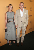 LOS ANGELES, CA - JUNE 11: Christine Baumgartner and Kevin Costner at the premiere of Yellowstone at Paramount Studios in Los Angeles, California on June 11, 2018. <br /> CAP/MPIFS<br /> &copy;MPIFS/Capital Pictures