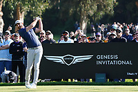 Dustin Johnson (USA) In action during the third round of the The Genesis Invitational, Riviera Country Club, Pacific Palisades, Los Angeles, USA. 14/02/2020<br /> Picture: Golffile | Phil Inglis<br /> <br /> <br /> All photo usage must carry mandatory copyright credit (© Golffile | Phil Inglis)