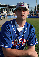 July 19, 2003:  Pitcher Tom Mastny (37) of the Auburn Doubledays, Class-A affiliate of the Toronto Blue Jays, during a game at Dwyer Stadium in Batavia, NY.  Photo by:  Mike Janes/Four Seam Images