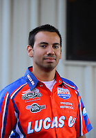 Sept. 30, 2012; Madison, IL, USA: NHRA pro stock motorcycle rider Hector Arana Jr during the Midwest Nationals at Gateway Motorsports Park. Mandatory Credit: Mark J. Rebilas-