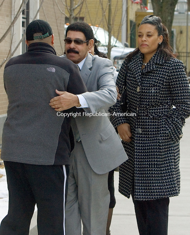 "HARTFORD, CT. 22 March 2013-032213S04-John ""Pudgie"" Maia, retired inspector and former Waterbury detective, walks into Federal Court in Hartford Friday. Maia was pleading on a federal charge..Steven Valenti Republican-American"