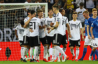 celebrate the goal, Torjubel zum 5:0 Marco Reus (Deutschland, Germany) durch direkten Freistoss, er ballt die Faust - 11.06.2019: Deutschland vs. Estland, OPEL Arena Mainz, EM-Qualifikation DISCLAIMER: DFB regulations prohibit any use of photographs as image sequences and/or quasi-video.