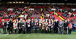 Family and friends of Martyn Harrison and Alan Hodgkinson take part in a minutes applause - English League One - Sheffield Utd vs Coventry City - Bramall Lane Stadium - Sheffield - England - 13th December 2015 - Pic Simon Bellis/Sportimage-