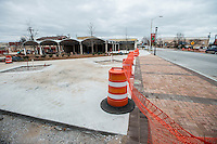 STAFF PHOTO ANTHONY REYES &bull; @NWATONYR<br /> The trail and Shiloh Square on Emma Avenue Friday, Dec. 26, 2014 nears completion in Springdale. The Razorback Greenway will soon be finished through the downtown area which is hoped to bring more businesses and shoppers downtown.