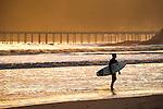 Surfer at Avila Beach, Central Coast, California