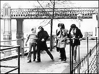 BNPS.co.uk (01202 558833).Pic: FameBureau/BNPS..Beach Boys in London in the late sixties...Get me Wonga.....A 'lost' archive of original music manuscripts, contracts and pictures of the Beach Boys has emerged for sale for nearly seven million pounds...The vast collection, that spans the first 20 years of the band's hugely successful career and consists of thousands of documents, was found forgotten in a storage unit...The treasure trove includes the sheet music for the Beach Boys' classic hits like 'God Only Knows', 'Good Vibrations' and 'Fun, Fun, Fun.'..It also includes handwritten lyrucs, recording contracts and copyright certificates signed by Brian Wilson and Mike Love, musical arrangements, royalty cheques and personal letters...And there are more than 60 behind-the-scenes photos of the hugely successful American rock band, many of them never seen before..
