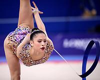 September 14, 2018 - Sofia, Bulgaria - MELINA BALDASSARRI of Italy performs ribbon routine at 2018 World Championships.