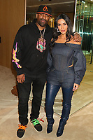 "NEW YORK, NY - NOVEMBER 6, 2019 DJ Clue & Kim Kardashian West attend the Kanye West ""Follow God"" music video presentation at the Burberry Store, November 6, 2019 in New York City. <br /> CAP/MPIWG<br /> ©WG/MPI/Capital Pictures"