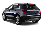 Car pictures of rear three quarter view of 2017 Cadillac XT5 AWD-Platinum 5 Door SUV Angular Rear
