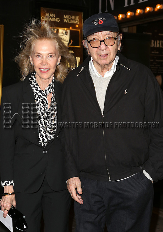 Elaine Joyce and Neil Simon attending the Broadway Opening Night Performance of 'Cabaret' at Studio 54 on April 24, 2014 in New York City.