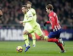 Club Atletico de Madrid's Antoine Griezmann (R) and Futbol Club Barcelona's Arthur Melo  during La Liga match. November 24,2018. (ALTERPHOTOS/Alconada)
