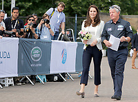 16 June 2017 - Princess Kate, Duchess of Cambridge, Patron of the 1851 Trust, with Keith Mills at the charity's final Land Rover BAR Roadshow at the Docklands Sailing and Watersports Centre in London. Photo Credit: ALPR/AdMedia