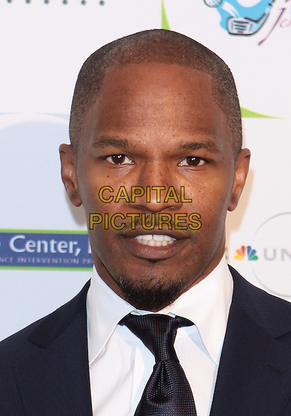 JAMIE FOXX.2010 Jenesse Silver Rose  Gala & Auction held at The Beverly Hills Hotel, Beverly Hills, California, USA..April 18th, 2010.headshot portrait black white blue goatee facial hair jaime.CAP/ADM/TC.©T. Conrad/AdMedia/Capital Pictures.