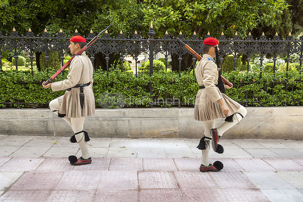 Greek soldiers, Evzones, outside the Presidential Palace, Athens, Greece <br /> CAP/MEL<br /> &copy;MEL/Capital Pictures /MediaPunch ***NORTH AND SOUTH AMERICA ONLY***