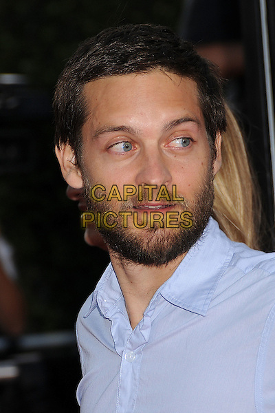"TOBEY MAGUIRE.""Tropic Thunder"" Los Angeles Premiere at Mann's Village Theatre, Westwood, California, USA. .August 11th, 2008 .headshot portrait beard facial hair .CAP/ADM/BP.©Byron Purvis/AdMedia/Capital Pictures."