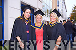 Orla Walsh, Maire Cooper, Shauna O'Malley, Bachelor of Science(Honours) in General Nursing at the Institute of Technology Tralee  Autumn Conferring of Awards Ceremony at the Brandon Hotel on Friday